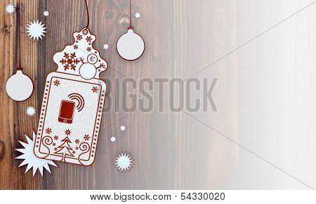 Xmas Coupon With Smart Phone Sign