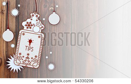 Xmas Coupon With Tip Label