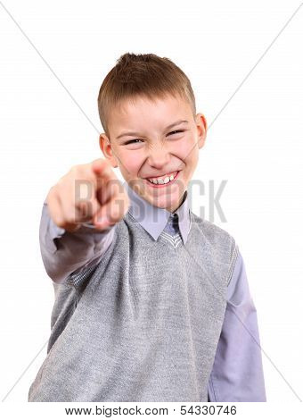 Boy Pointing At You