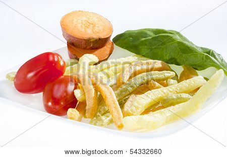 Potato Vegetable Stick Chips.
