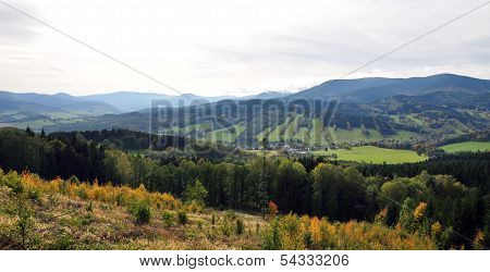 landscape mountains Jeseniky, Czech Republic, Europe