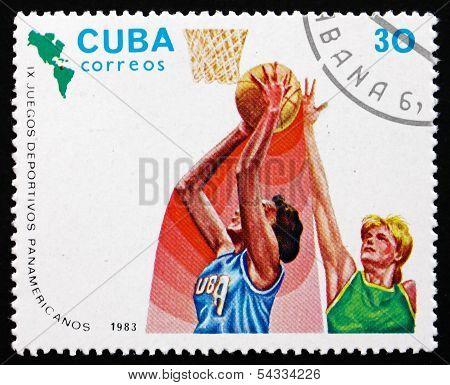 Postage Stamp Cuba 1983 Basketball