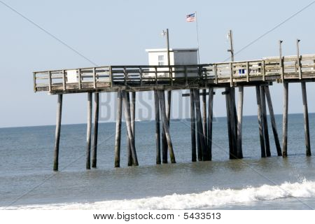 Ocean view of fishing pier