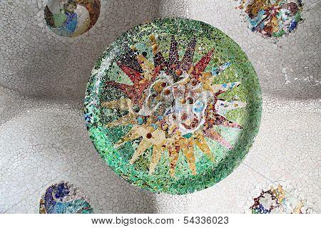Ceramic Mosaic Pattern, Barcelona, Spain