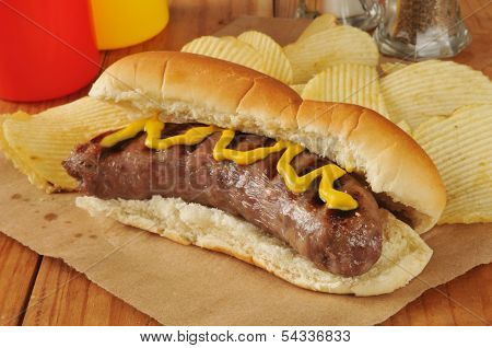 Bratwurst With Mustard