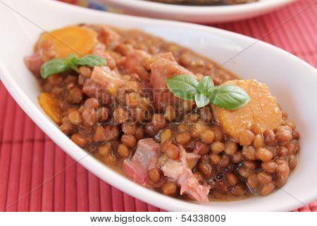 Stew of lentils