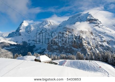 Eiger, Monch, and Jungfrau in Switzerland