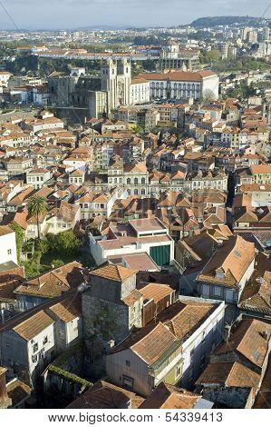 Porto Skyline From Clerigos Tower, Portugal