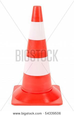 Pylon Or Warning Cone Before White Background