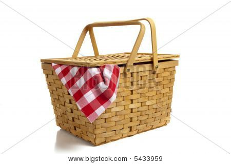 Picnic Basket With Gingham