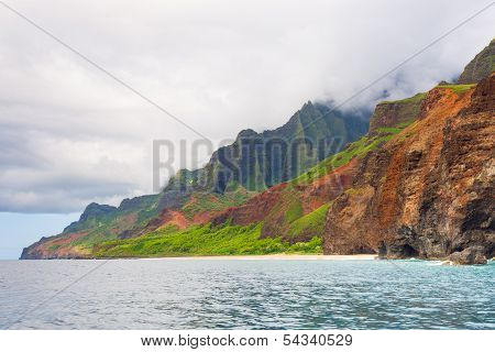 Cloudy Day On Na Pali Coast
