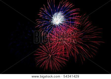 Red, White And Blue Fireworks