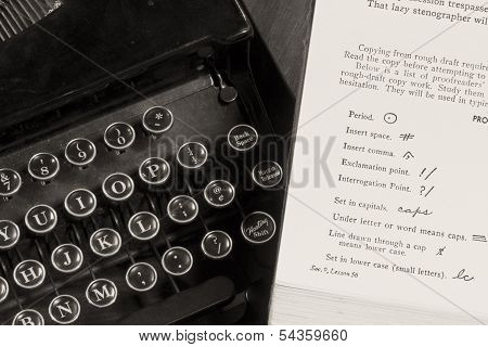 Vintage Typing Lessons