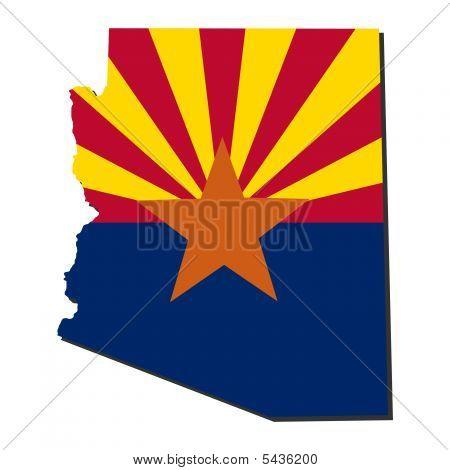 Arizona Map Flag Illustration
