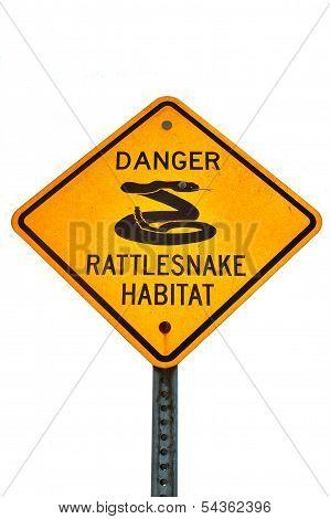 Rattlesnake Warning Sign