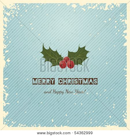 Christmas Greeting Card with Holly