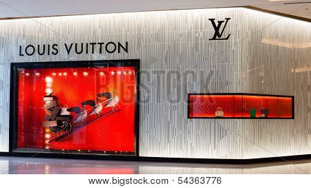 Exterior Of A Louis Vuitton In Bangkok, Thailand.