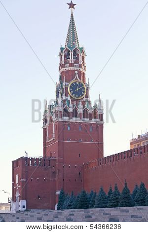 Spasskaya Tower Of The Kremlin