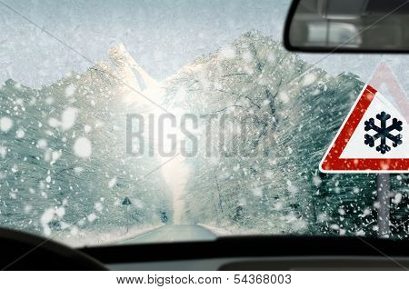 Winter driving - caution