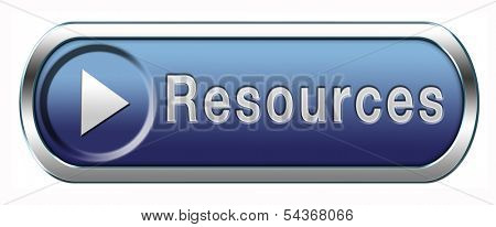 Resources human or natural resource button or icon