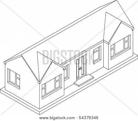 3d Isometric Bungalow