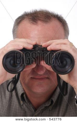 Visible Eyes In Binoculars