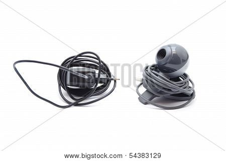 Webcam with Power Plug Connector