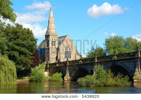 Shrewsbury Church On Severn