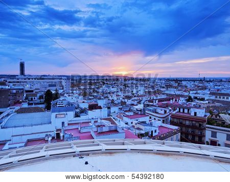 Sunset In Seville, Spain