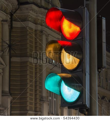 All the colors of a traffic light