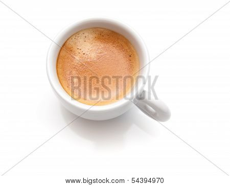 Small Espresso Coffee Cup Isolated On White Background