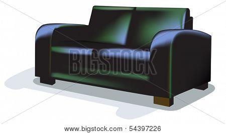 Dark Sofa over white.
