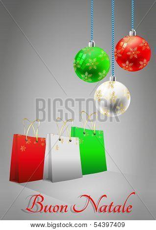 Xmas Bag And Ball Italy