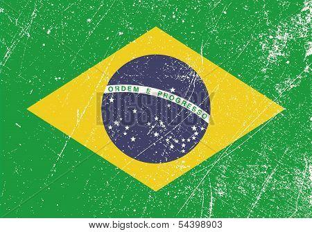 Brazil Flag Vintage