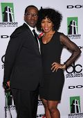 LOS ANGELES - OCT 21:  Courtney B. Vance & Angela Bassett arrives to Hollywood Film Awards Gala 2013