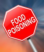 picture of diarrhea  - Illustration depicting a sign with a food poisoning concept - JPG