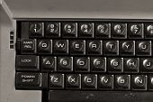 image of qwerty  - Dirty Old Typewriter with Traditional QWERTY Keys - JPG