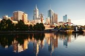 image of cbd  - A view of the Yarra River Melbourne Victoria Australia - JPG