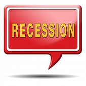 picture of stock market crash  - recession crisis bank and stock crash economic and financial bank recession market crash icon or button - JPG