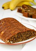 image of cardamom  - Banana Cake with Cardamom and Cashews whit  bananas in the background - JPG