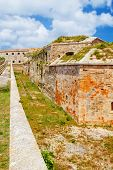 stock photo of mola  - La Mola Fortress of Isabel II at Menorca island - JPG