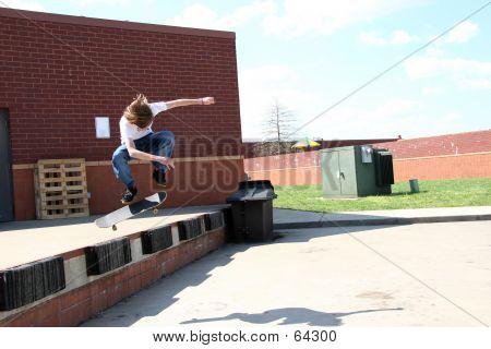 Airborne Skateboarder