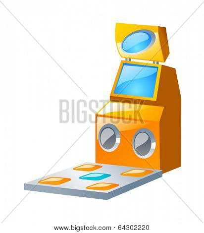 vector icon game machine