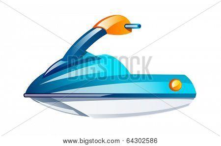 vector icon jet ski