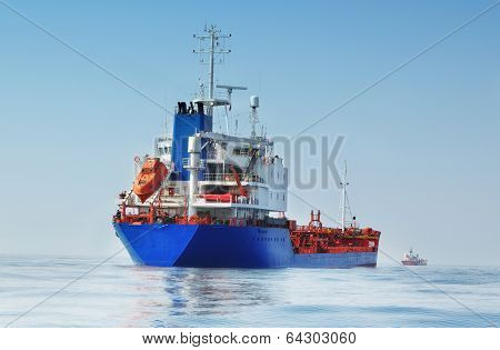 Tanker In The Ocean