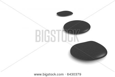 Three Black Pebbles