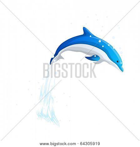 vector icon dolphin