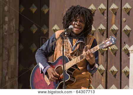 Black Street Musician