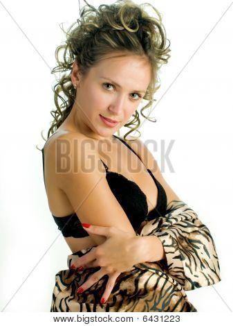 Woman In Tiger Painted Jacket