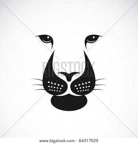 Vector Image Of An Lions Face